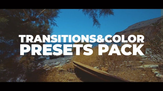 Transitions & Color Presets Pack: Premiere Pro Presets