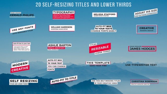 20 Self-Resizing Titles And Lower Thirds: Motion Graphics Templates