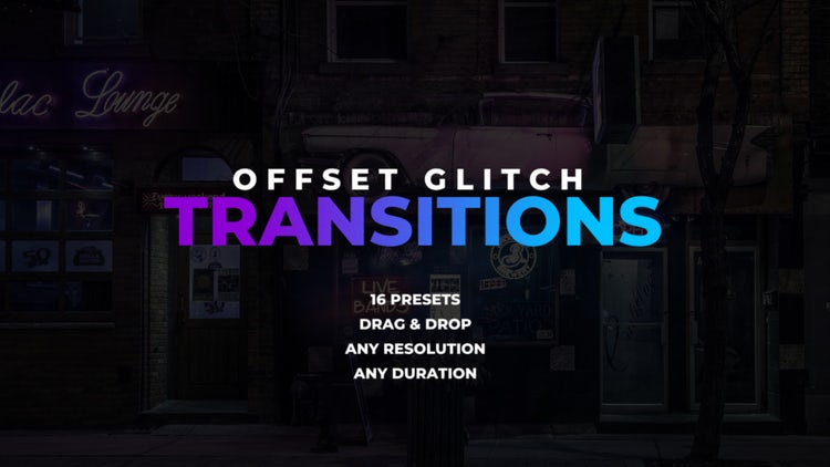 Offset Glitch Transitions: Premiere Pro Presets