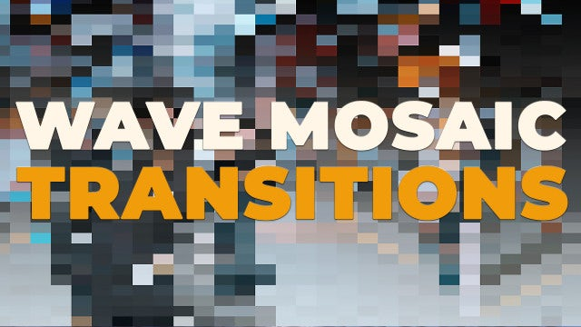Wave Mosaic Transitions: Premiere Pro Presets