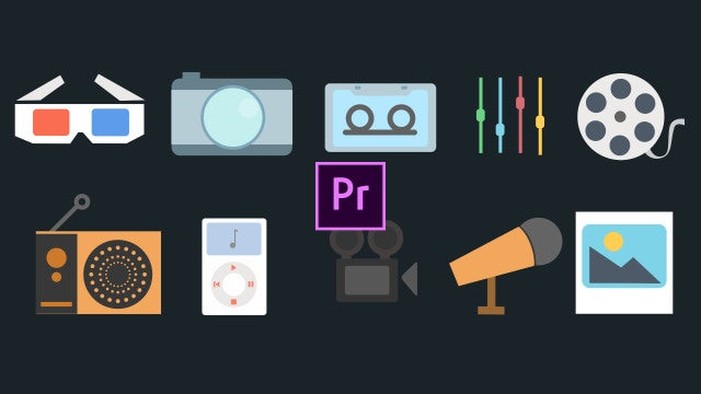 Multimedia Icons Pack: Motion Graphics Templates