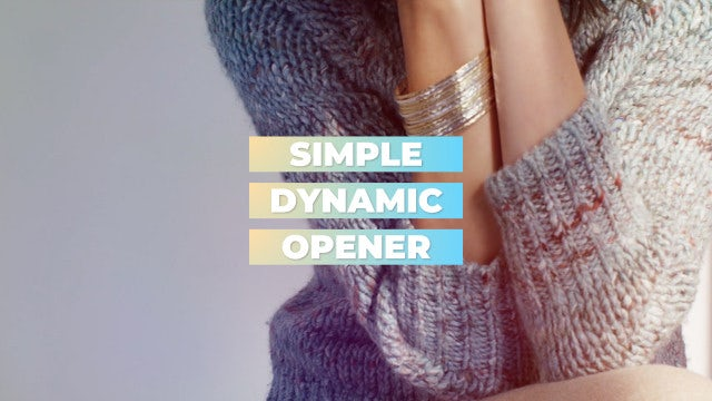 Dynamic Media Opener. Trendy Slideshow.: Premiere Pro Templates