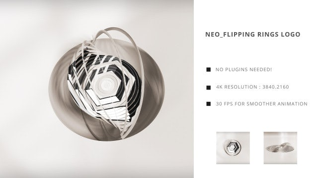 Neo Flipping Rings Logo: After Effects Templates