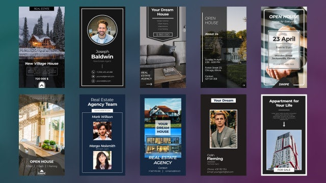 Instagram Real Estate Stories: Motion Graphics Templates