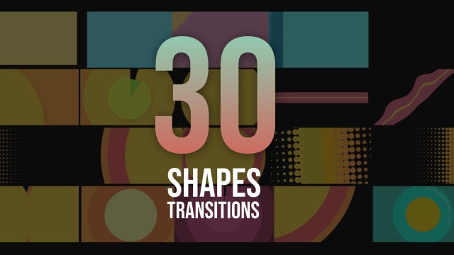 30 Shapes Transitions Pack: After Effects Templates