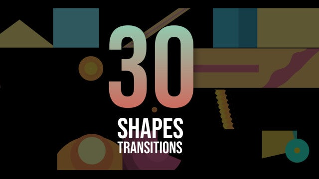30 Shapes Transitions Pack: Stock Motion Graphics