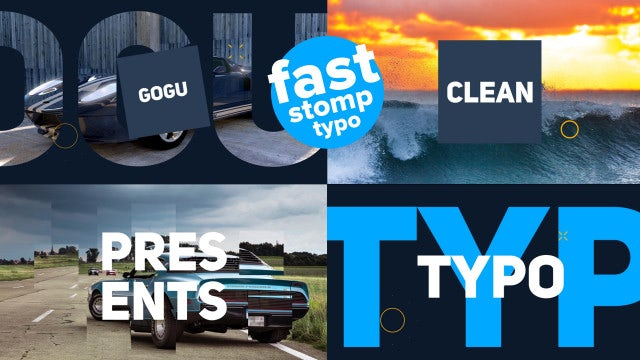 Fast Stomp Typo: After Effects Templates