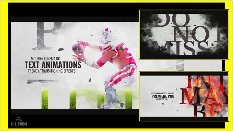 Intro Cinematic - Sport Trailer: Premiere Pro Templates