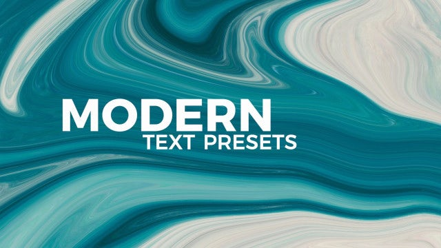 120 Modern Text Presets: Motion Graphics Templates