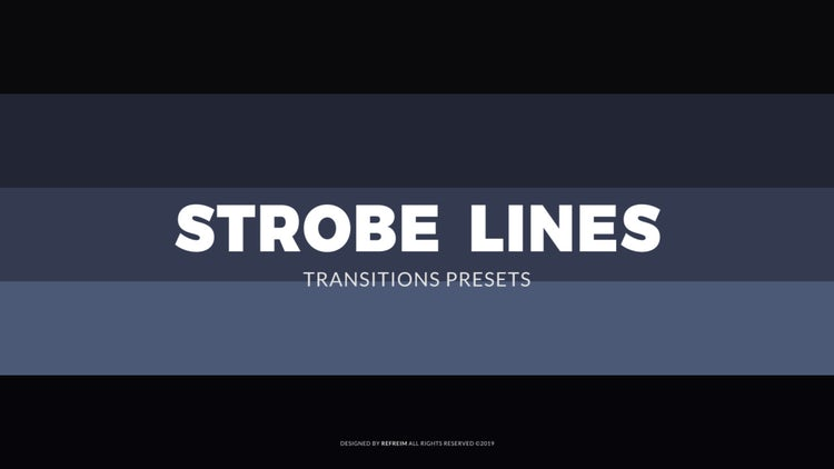 Strobe Lines Transitions: Premiere Pro Presets