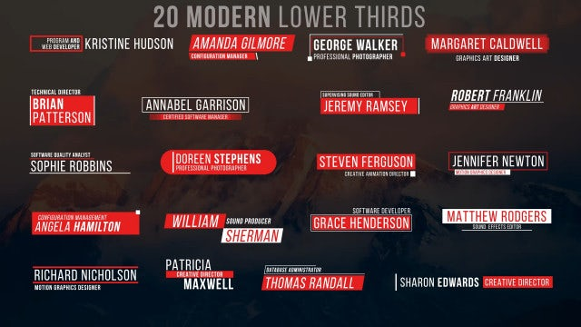 Lower Thirds IV: Motion Graphics Templates