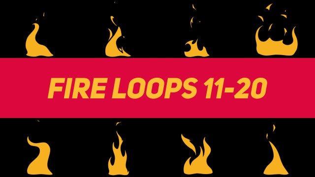 Liquid Elements Fire Loops 11-20: Motion Graphics Templates