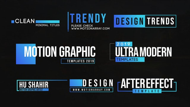 Clean Motion Titles: Motion Graphics Templates