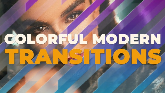 Colorful Modern Transitions: Premiere Pro Templates