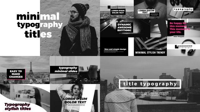 Minimal Urban Typography: Premiere Pro Templates