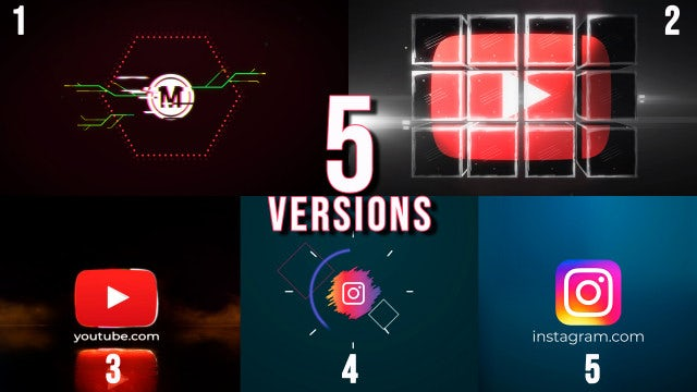 5 Versions - Logo Reveal: After Effects Templates