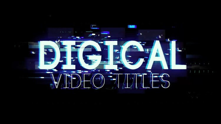 Digital Video Titles & Lower Thirds: After Effects Templates