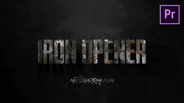 Iron Text Opener: Motion Graphics Templates