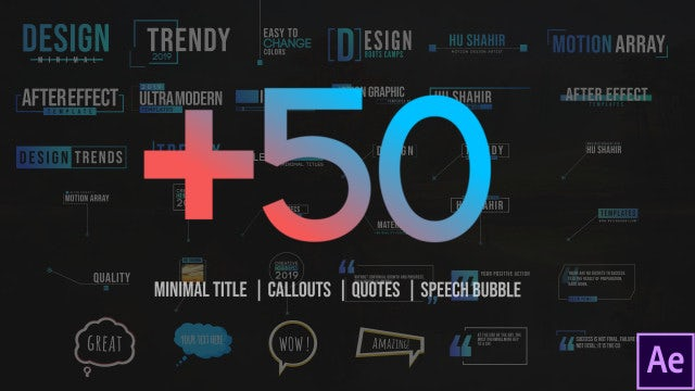 50 Motion Titles Pack: After Effects Templates