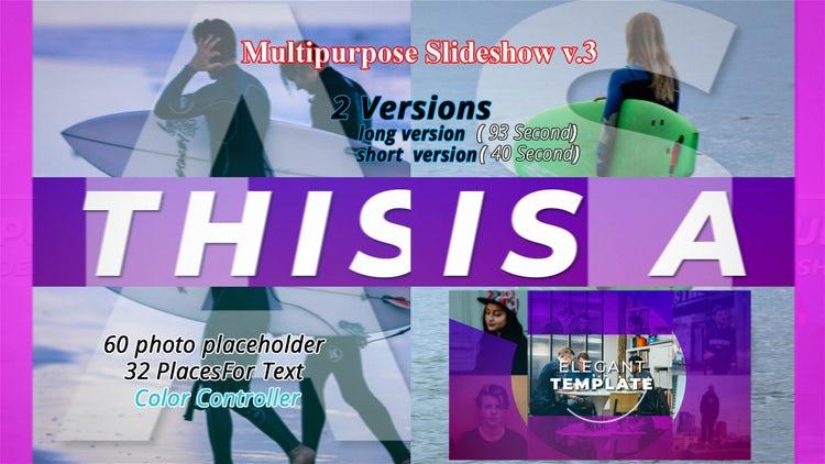 Multipurpose Slideshow V.3: After Effects Templates