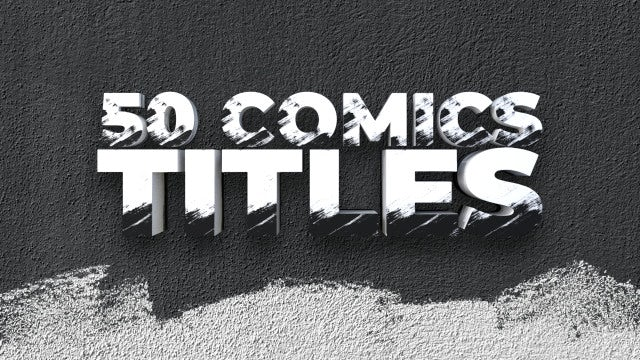 50 Comics Titles: After Effects Templates