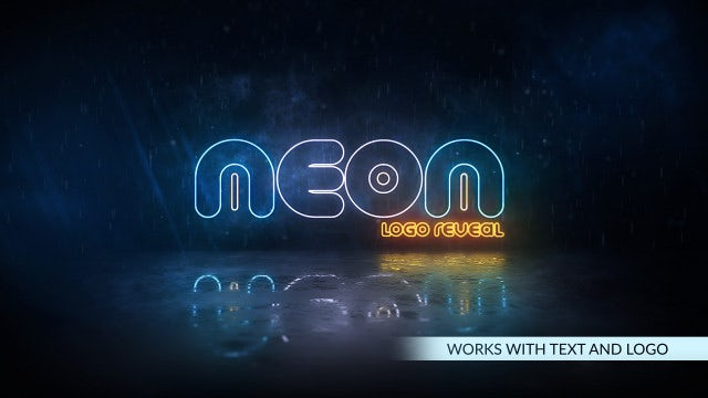 Neon Storm Logo: After Effects Templates