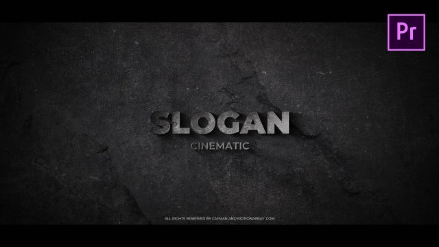 Cinematic Text Opener: Motion Graphics Templates