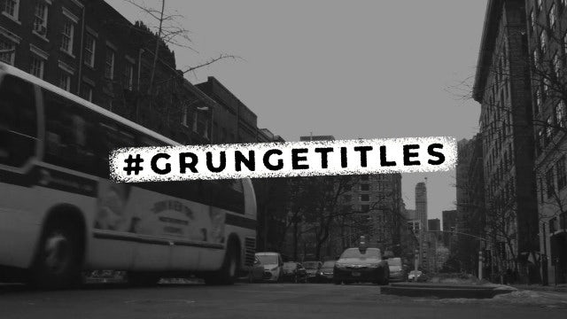 Grunge Titles & Lower Thirds: After Effects Templates