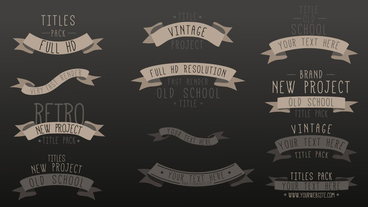 Retro Style Vintage Titles: After Effects Templates