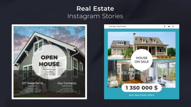 Real Estate Instagram Stories: After Effects Templates