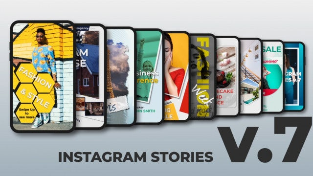 Instagram Stories V.7: After Effects Templates