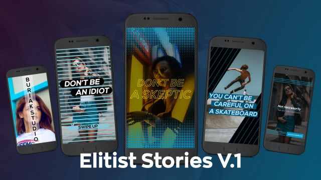 Elitist Stories V.1: After Effects Templates