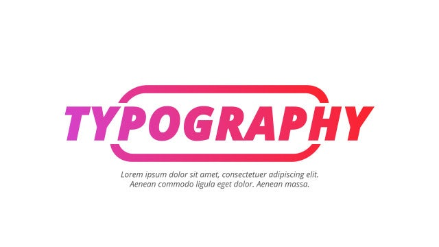 Minimal Typography: After Effects Templates
