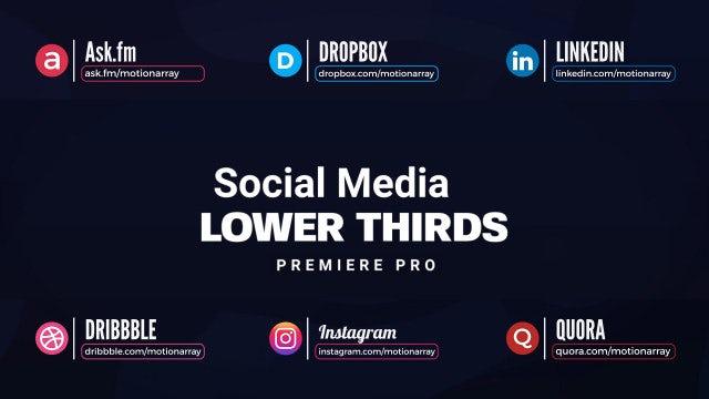 Social Media Lower Thirds: Premiere Pro Templates