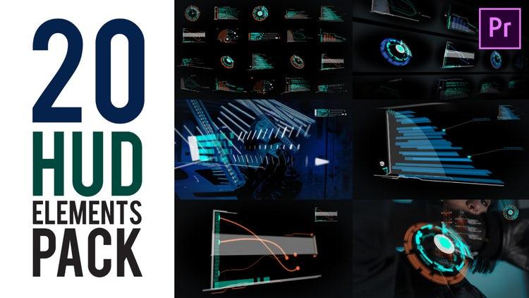 HUD Pack 4K: Premiere Pro Templates