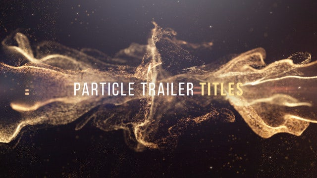 Particles Trailer Titles: After Effects Templates