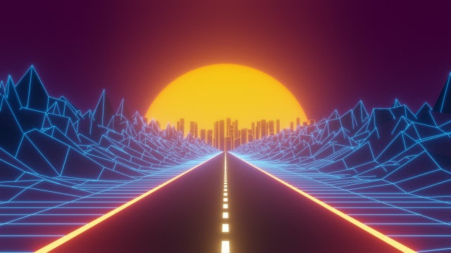 Retrowave Backgrounds: Stock Motion Graphics