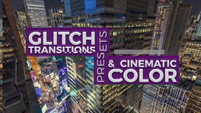 Glitch Transitions & Color Presets: Premiere Pro Presets