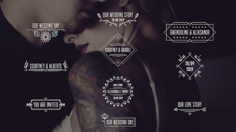 Glitch Wedding Titles: After Effects Templates