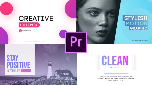 Clean Big Titles: Motion Graphics Templates