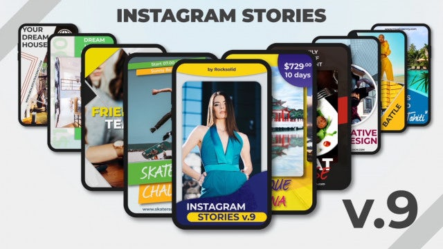 Instagram Stories V.9: After Effects Templates