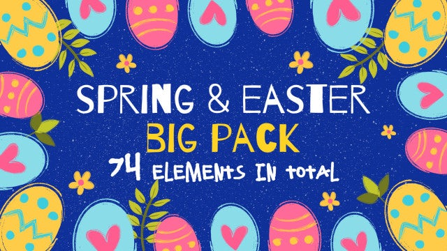 Spring Easter Big Pack: After Effects Templates