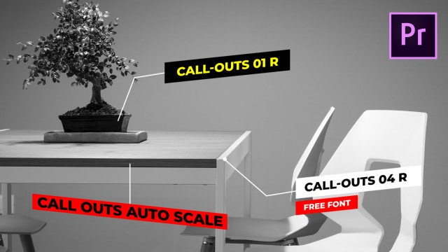 Call Outs Auto Scale: Motion Graphics Templates