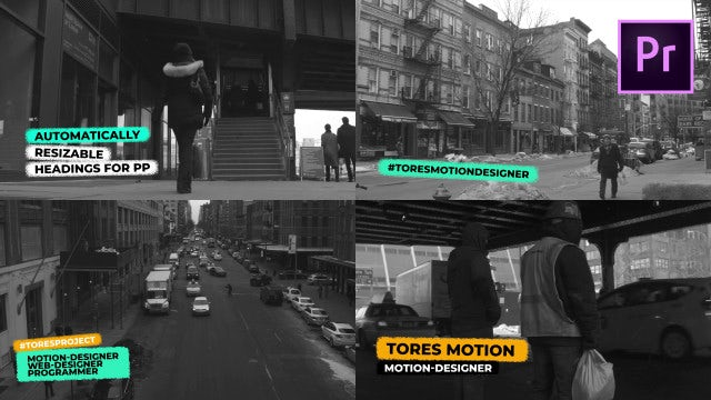 Grunge Titles & Lower Thirds: Motion Graphics Templates