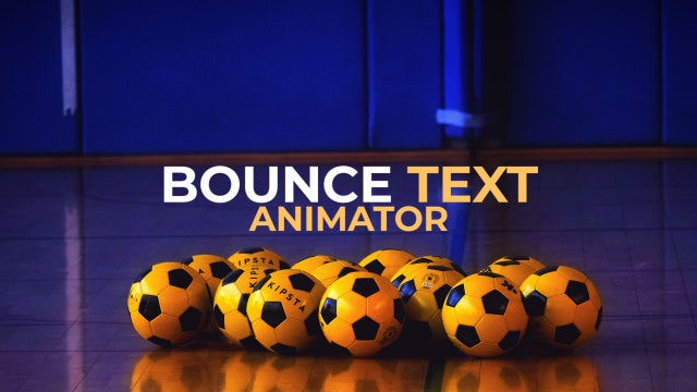 Bounce Text Animator: Premiere Pro Presets