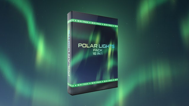 Polar Lights Loops Pack (Green And Blue): Stock Motion Graphics