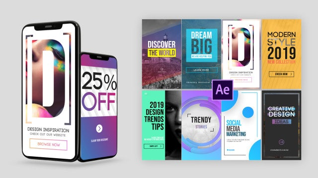 Trendy Instagram Stories Pack: After Effects Templates