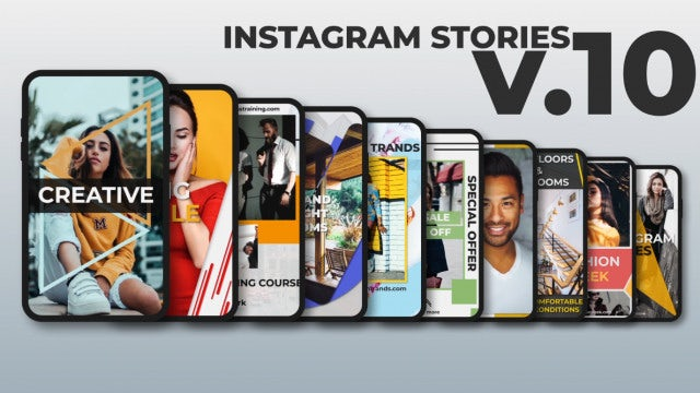 Instagram Stories V.10: After Effects Templates
