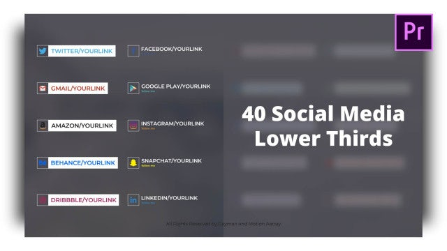 Social Lower Thirds: Motion Graphics Templates