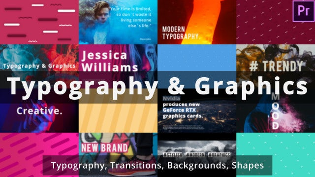 Typography & Graphics: Motion Graphics Templates